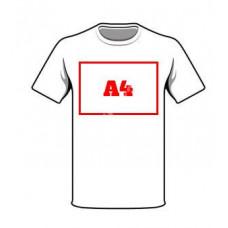 Haft A4 na odzieży