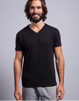 T-shirt v-neck JHK TSUA PICO dopasowany