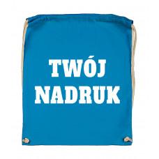 Bawełniany plecak ze sznurkiem MID BLUE z Twoim nadrukiem