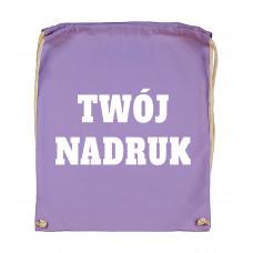 Bawełniany plecak ze sznurkiem LAVENDER z Twoim nadrukiem