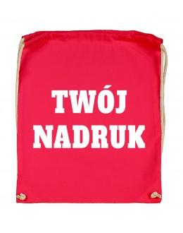 Bawełniany plecak ze sznurkiem ROUGE RED z Twoim nadrukiem