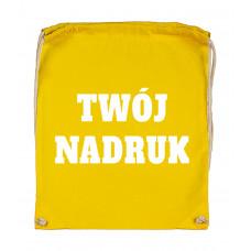 Bawełniany plecak ze sznurkiem BUTTERCUP z Twoim nadrukiem