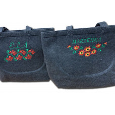 Duża zakupowa torba z filcu Z TWOIM HAFTEM