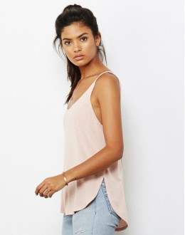 Damski Tank Top Flowy Side Slit