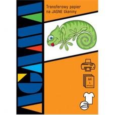 Papier NAPRASOWANKA z nadrukiem do JASNYCH tkanin A4 1szt.