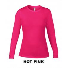 Damska koszulka z długim rękawem Fashion HOT PINK