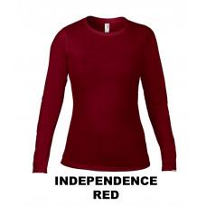 Damska koszulka z długim rękawem Fashion INDEPENDENCE RED