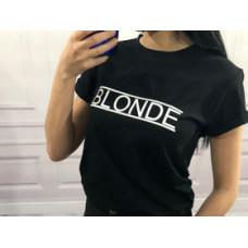 Blogerska koszulka BLONDE czarna