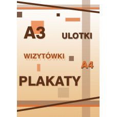 Projekt ulotka/wizytówka/plakat