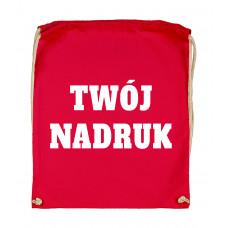 Bawełniany plecak ze sznurkiem RED z Twoim nadrukiem