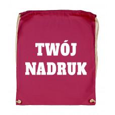 Bawełniany plecak ze sznurkiem CLARET z Twoim nadrukiem